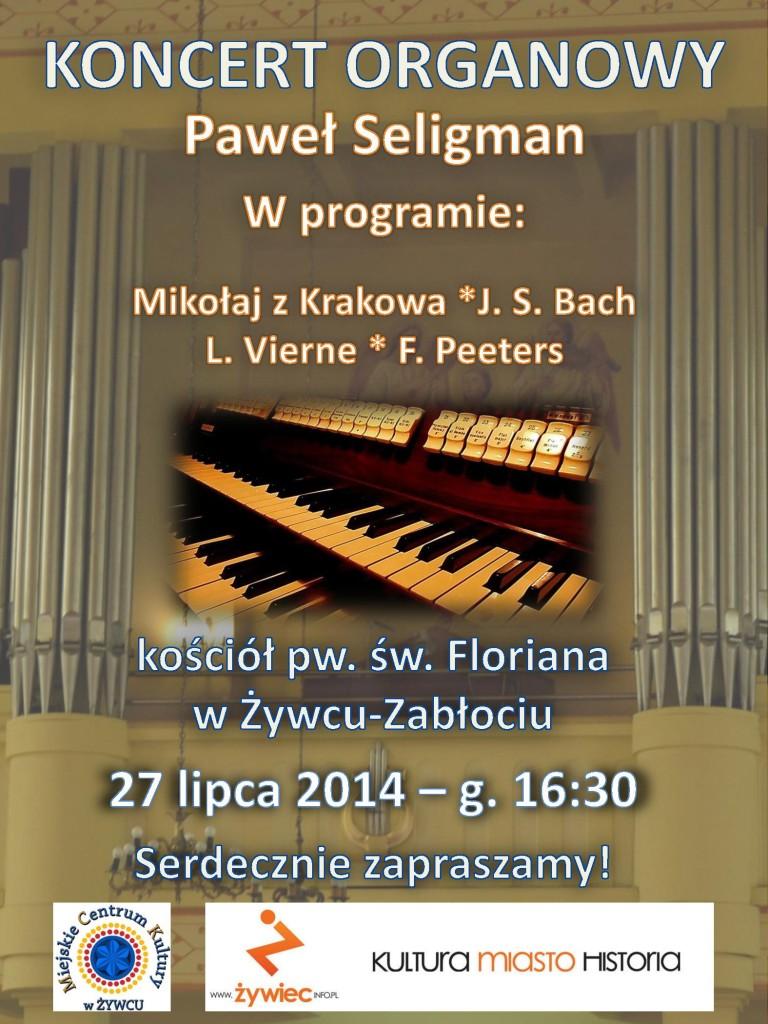 Lipiec 2014 koncert Paweł Seligman - plakat
